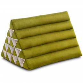 Triangle Cushion XXL-Height, monochrome, green