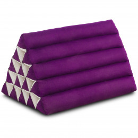 Triangle Cushion XXL-Height, monochrome, purple