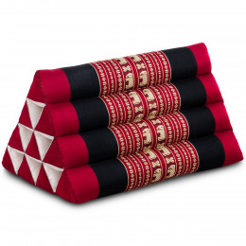 Triangle Cushion, red elephants