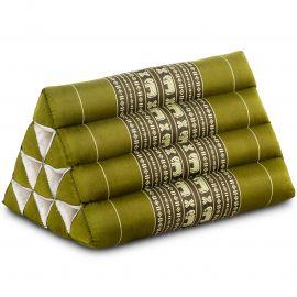 Triangle Cushion, green elephants