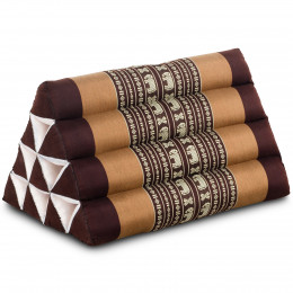 Triangle Cushion, brown elephants