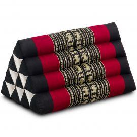 Triangle Cushion, black elephants