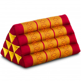 Triangle Cushion, red / yellow