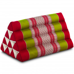 Triangle Cushion, red / green