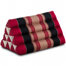Triangle Cushion, red / black