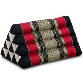 Triangle Cushion, black / red