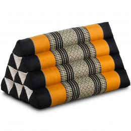 Triangle Cushion, black / orange