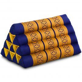 Triangle Cushion, blue / yellow