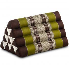 Triangle Cushion, brown / green