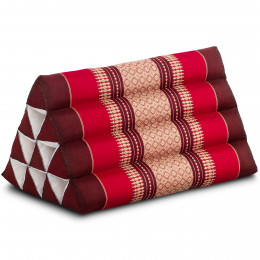Triangle Cushion, ruby-red