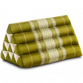 Triangle Cushion, green