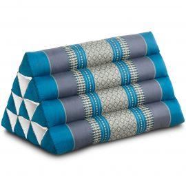 Triangle Cushion, light blue
