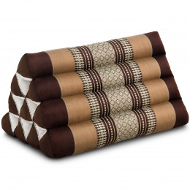 Triangle Cushion, brown