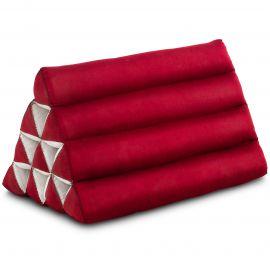 Triangle Cushion, monochrome, red