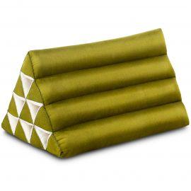 Triangle Cushion, monochrome, green