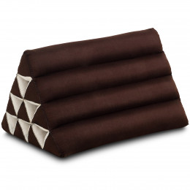 Triangle Cushion, monochrome, brown
