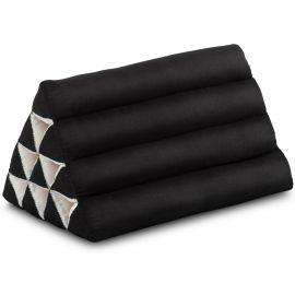 Triangle Cushion, monochrome, black