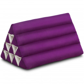Triangle Cushion, monochrome, purple