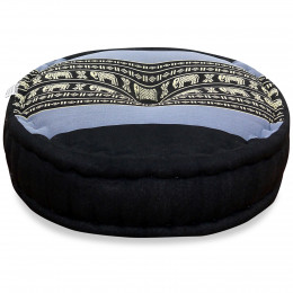 Zafu Pillow, blue elephants