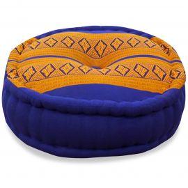 Zafu Pillow, blue / yellow