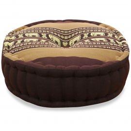 Zafu Pillow, brown elephants