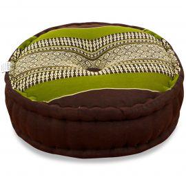 Zafu Pillow, brown / green
