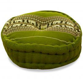 Zafu Pillow, green elephants