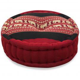 Zafu Pillow, red elephants