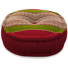 Zafu Pillow, red / green