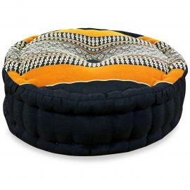 Zafu Pillow, black / orange