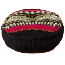 Zafu Pillow, black / red