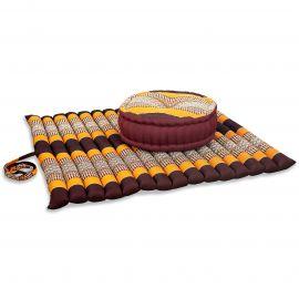 Kapok, Zafu Cushion + Quilted Seat Cushion Size XL, orange