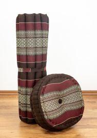 Kapok, Zafu Cushion + Quilted Seat Cushion Size XL, bordeaux