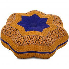 Zafu Cushion, little star, blue / yellow