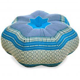 Zafu Cushion, great star, light blue