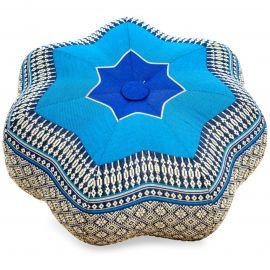 Zafu Cushion, little star, blue