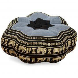 Zafu Cushion, little star, blue / elephants