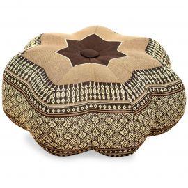 Zafu Cushion, little star, brown