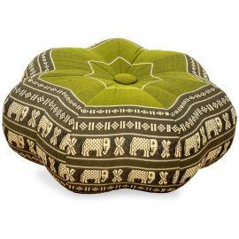 Zafu Cushion, little star, green / elephants
