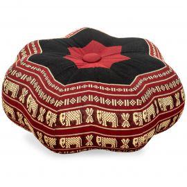 Zafu Cushion, little star, red / elephants