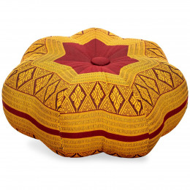 Zafu Cushion, little star, red / yellow