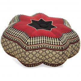 Zafu Cushion, little star, black / red