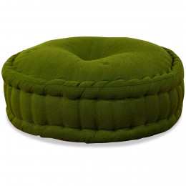 Zafu Pillow, monochrome, green