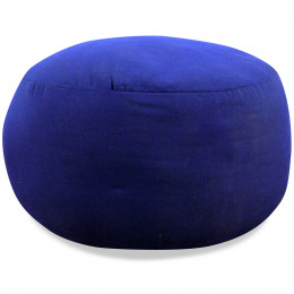 Small Zafu Pillow, monochrome, blue