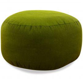 Small Zafu Pillow, monochrome, green